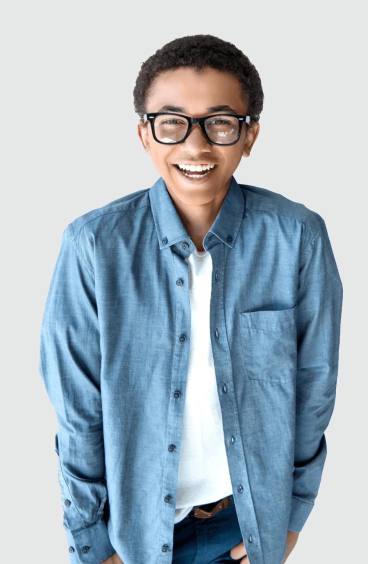 teen kid smiling