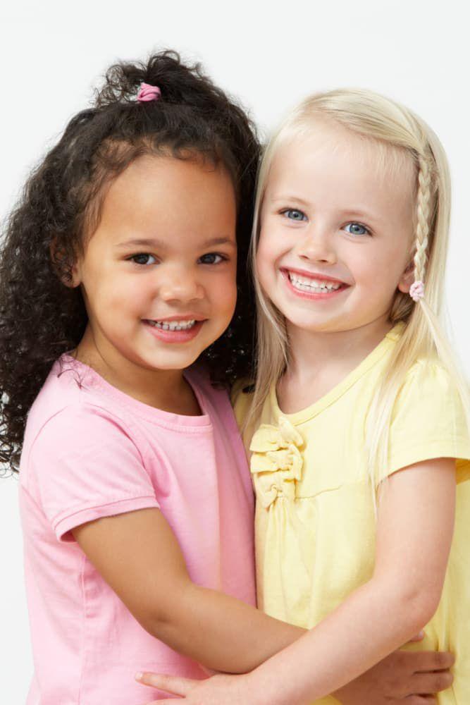 beautiful young girls smiling